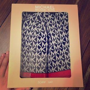 Michael Kors beanie and scarf set